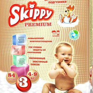Skippy Подгузники детские Premium 4-9 кг 84 шт