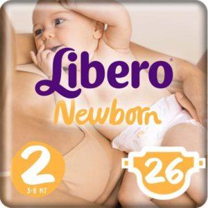 Libero Подгузники Newborn Size 2 (3-6 кг) 26 шт