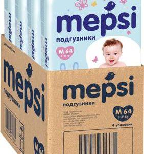 Mepsi Детские подгузники M 6-11 кг 64 шт 4 упаковки