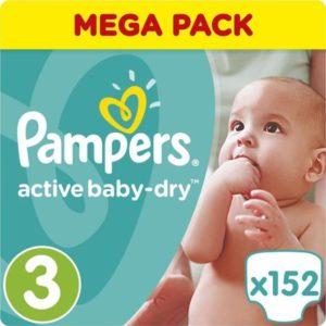 Подгузники PampersActive Baby-Dry Midi (6-10 кг) 152 шт