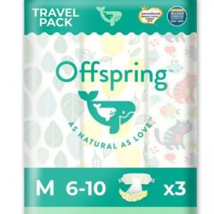 """Подгузники Offspring """"Travel pack"""" 3 расцветки 6-10 кг 3 шт"""